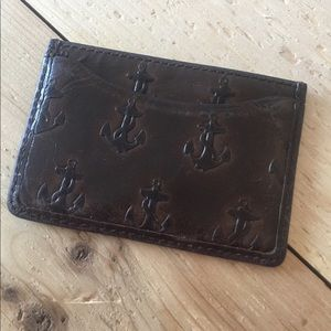 Other - Jack Spade anchor leather card case/bill fold